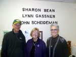 John Scheideman, Sharon Bean, and Lynn Gassner